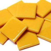 25mm Square Tile - Mustard Gloss - 50g