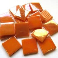 25mm Square Tile - Orange Pearlised - 50g