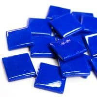 25mm Square Tile - Peacock Blue Gloss - 50g