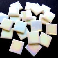 25mm Square Tile - Snow White Pearlised - 50g