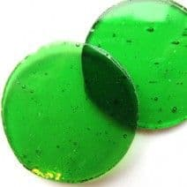 40mm Circle - Acid Green - 2 pieces