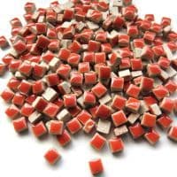 5mm Square Ceramic - Coral Red - 25g