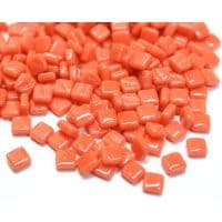 8mm Square Tiles - Coral Red Gloss - 500g