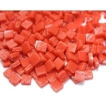 8mm Square Tiles - Coral Red Matte - 50g