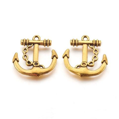 Charm - Anchor - 3 pieces