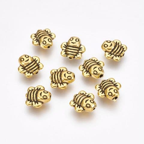 Charm - Bees Golden - 10 pieces