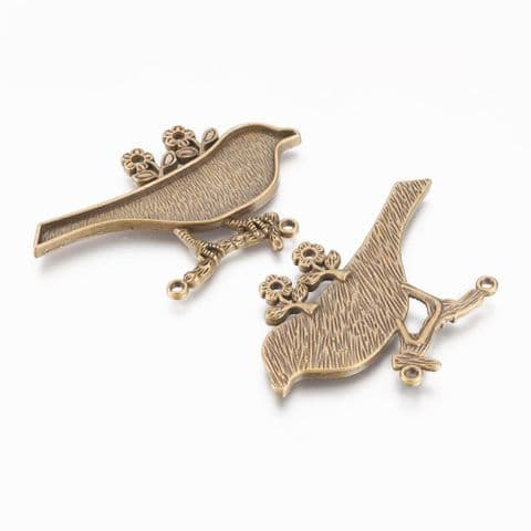 Charm - Bird 63mm Bronze - 1 piece