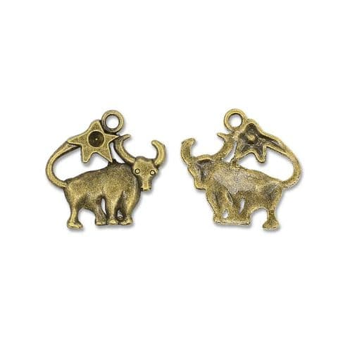 Charm - Bronze Cattle - 3 pieces