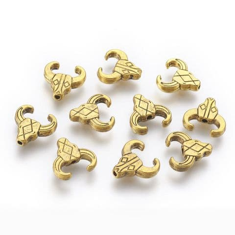 Charm - Cattle Head - 10 pieces