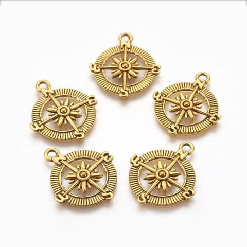 Charm - Compass - 5 pieces