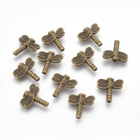 Charm - Dragonfly Bronze - 10 pieces