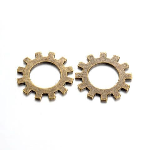 Charm - Gear 25mm - 10 pieces