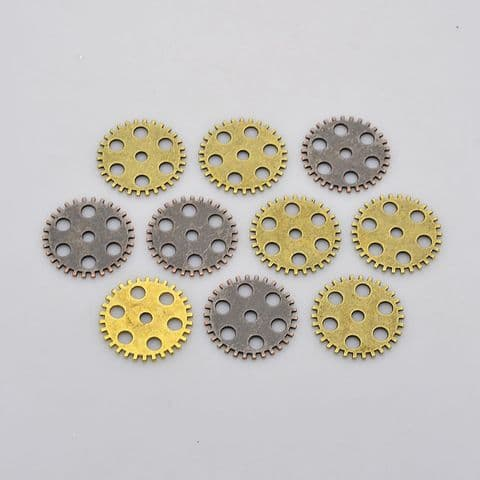 Charm - Gear 26mm - 10 pieces