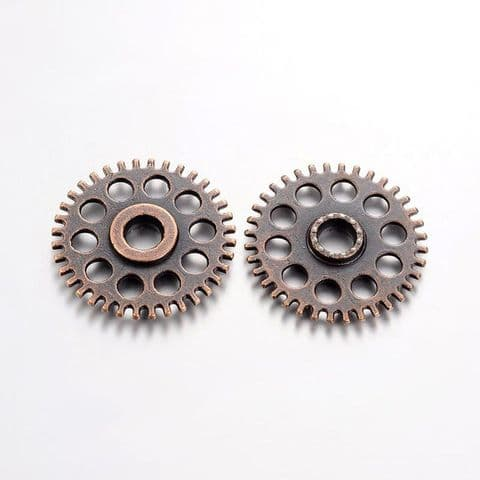 Charm - Gear 26mm Copper - 10 pieces