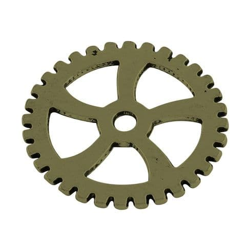 Charm - Gear Bronze 31mm - 3 pieces