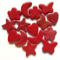 Glass Charm - Red - 50g