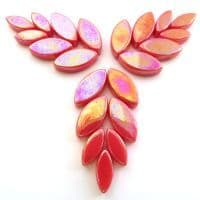 Glass Petals - Coral Red Iridised - 50g