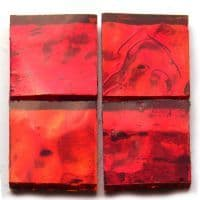 Mirror Squares - Red Wavy