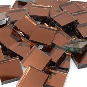Mirror Tile - 15mm Square Chocolate - 50g (25 tiles)