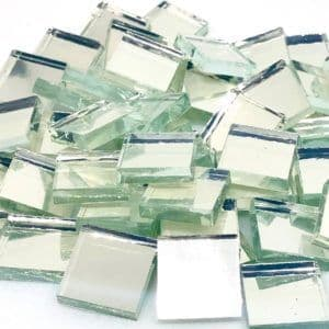 Mirror Tile - 15mm Square Silver - 50g (25 tiles)