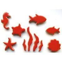 Sealife Charm - Coral Red - 100g