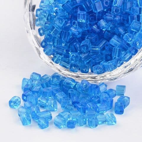 Seed Beads Cube - 6/0 - Dodger Blue - 50g