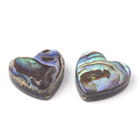 Shell Beads - Heart - 1 piece