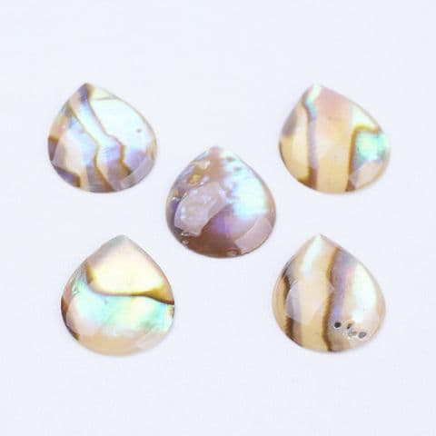 Shell Cabochons - Drop - 10 pieces