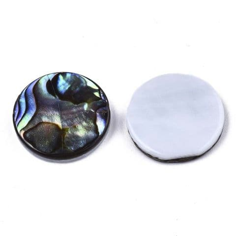 Shell Cabochons - Flat Round 15mm - 1 piece