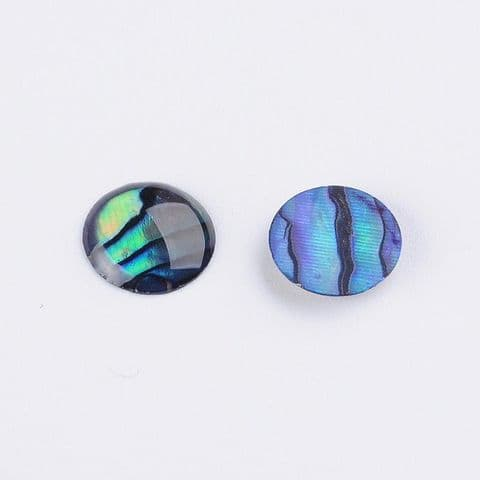 Shell Cabochons - Half Round/Dome 8mm - 5 pieces