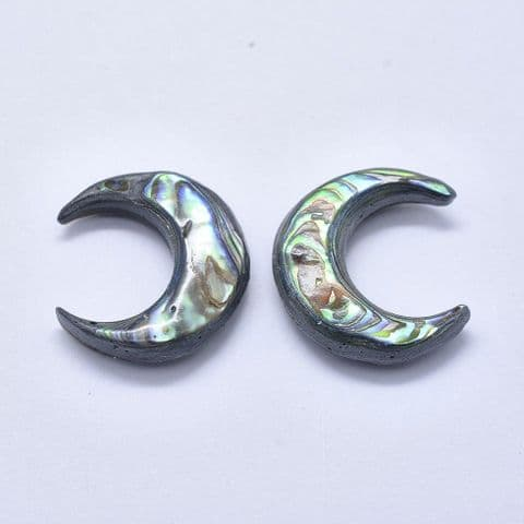 Shell Cabochons - Moon 35mm - 1 piece