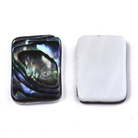 Shell Cabochons - Rectangle 15x10mm - 1 piece