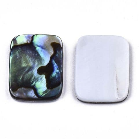 Shell Cabochons - Rectangle 20x15mm - 1 piece