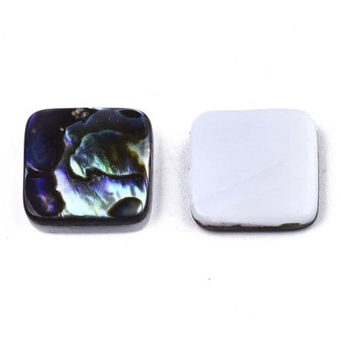 Shell Cabochons - Square 10mm - 1 piece