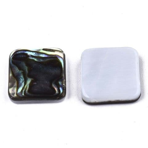 Shell Cabochons - Square 12mm - 1 piece