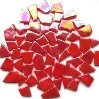 Snippets Glass Shapes - Coral Red Iridised - 500g