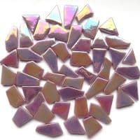 Snippets Glass Shapes - Lilac Iridised - 500g