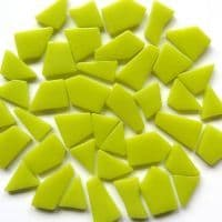 Snippets Glass Shapes - Lime Green - 500g