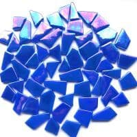 Snippets Glass Shapes - Royal Blue Iridised - 100g