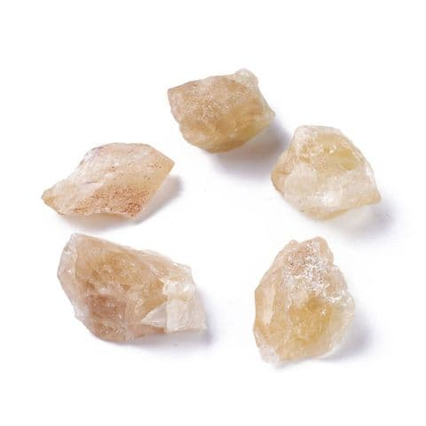 Stones - Natural Rough Raw Citrine 30~46mm - 5 pieces
