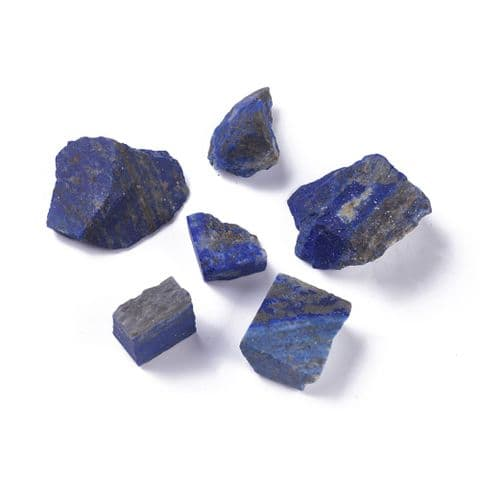 Stones - Natural Rough Raw Lapis Lazuli 19~43mm - 5 pieces