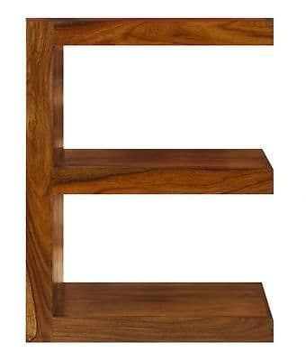 Cube Petite Indian Sheesham Wood Modern E Shelf
