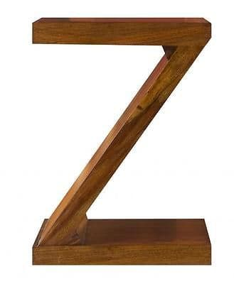 Cube Petite Indian Sheesham Wood Modern Z Shelving.