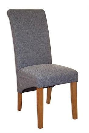 AOC pair of slate fabric chairs
