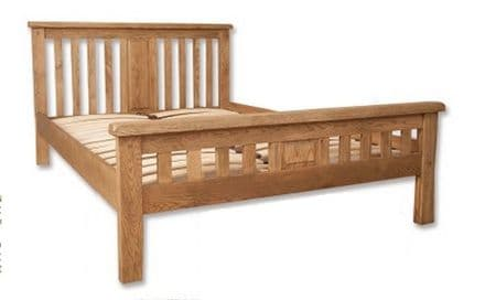 Hampton Natural Bedroom Chunky Solid Oak King Size Bed Frame (MNB005)