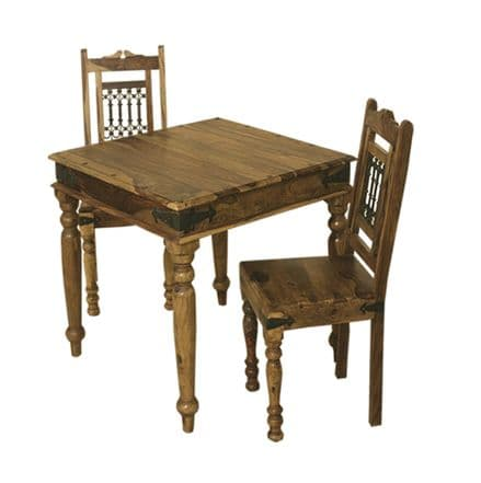 Jali Sheesham 90 x 90 Compact Square Dining Table