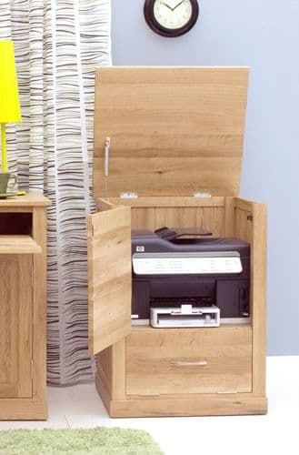 Mobel Oak Printer Cupboard