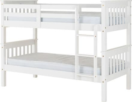Nevada 3'0 Bunk bed White or Oak Effect