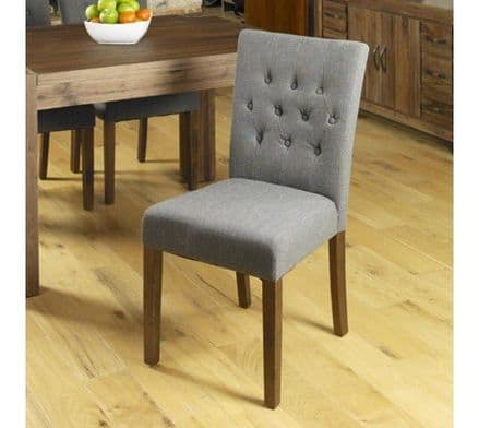 Pair of Flare back slate shade upholstered dining chair walnut legs