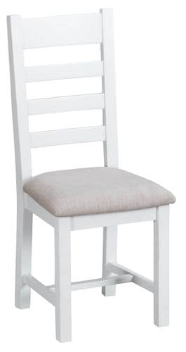 Pair of Telford ladder back w/ fabric seat